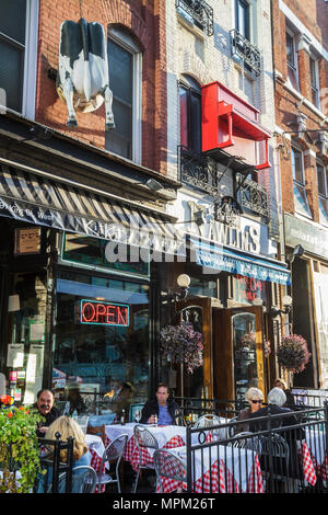 Canada, Toronto, King Street West, Kit Kat Italian Bar & Grill, Nawlins, restaurant restaurants food dine dining eating out casual cafe cafes, bistro - Stock Photo