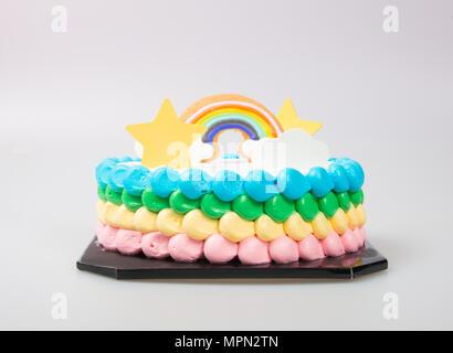 cake or birthday cake on a background - Stock Photo