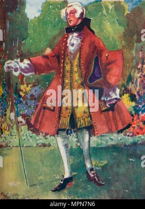 'A Man of the Time of George II', 1907. Artist: Dion Clayton Calthrop. - Stock Photo