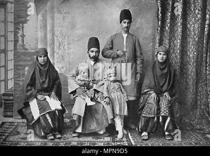 A Persian Parsi family, 1902. Artist: Unknown. - Stock Photo