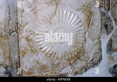 Sol (sulis), the Sun in Stucco, Villa Farnesina, Rome, c1st century BC -1st century.  Artist: Unknown. - Stock Photo