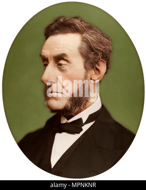 Anthony Ashley-Cooper, 7th Earl of Shaftesbury, British politician and philanthropist, 1876. Artist: Lock & Whitfield. - Stock Photo