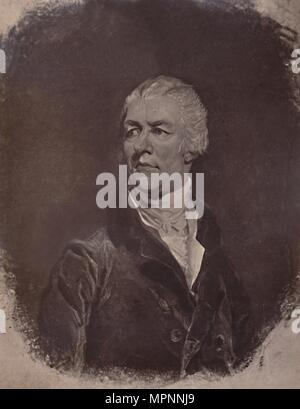 William Pitt the Younger, English politician and Prime Minister, 19th century (1894). Artist: Charles Turner. - Stock Photo