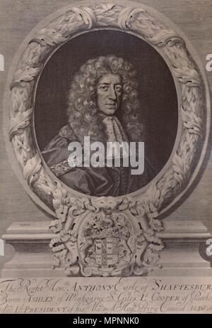 Anthony Ashley Cooper, 1st Earl of Shaftesbury, English statesman, c1680 (1894). Artist: Robert White. - Stock Photo