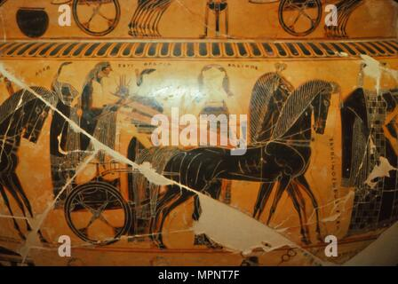 Detail From The Francois Vase Etruscan Tomb Find C6th Century Bc