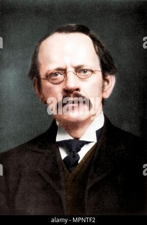 JJ Thomson, British physicist, c1896-c1915. Artist: Unknown. - Stock Photo