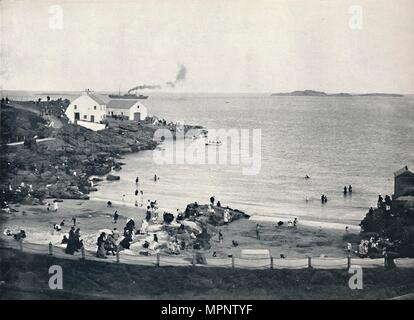 'Portrush - The Bathing-Place', 1895. Artist: Unknown. - Stock Photo