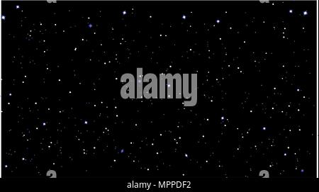 stars sky night vector illustration - Stock Photo