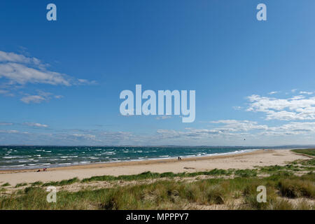 United Kingdom, Scotland, Highland, Sutherland, Caithness, beach of Dornoch - Stock Photo