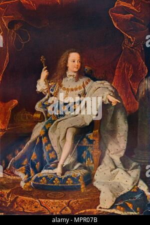 'Louis XV (1710-1774) at the Age of Five in the Costume of the Sacre', c1716û24, (1911). Artist: Hyacinthe Rigaud. - Stock Photo