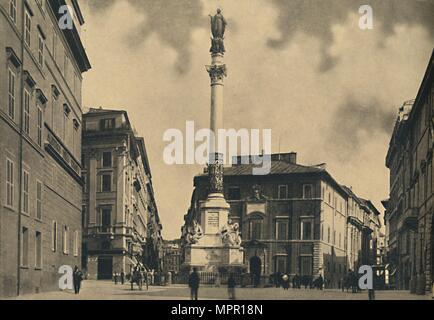 'Roma - Piazza di Spagna', 1910. Artist: Unknown. - Stock Photo
