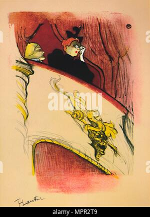 'The Box with the Gilded Mask', 1893, (1946). Artist: Henri de Toulouse-Lautrec. - Stock Photo