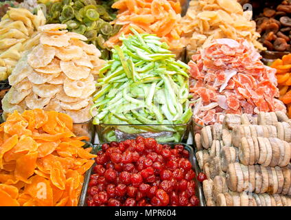 Dried fruits. Spice bazaar Istanbul - Stock Photo
