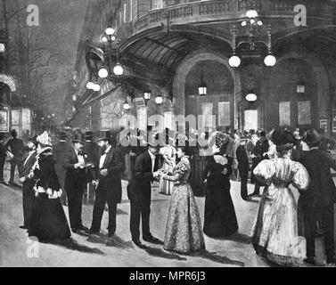 'Le Theatre Du Vaudeville - Pendant L'Entr'acte', 1900. Artist: Unknown. - Stock Photo