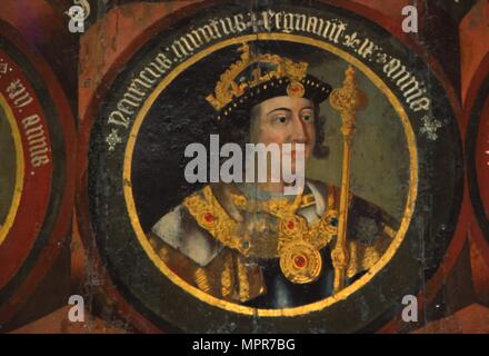 Henry V (1387-1422), king of England from 1413, courting  Katherine, daughter of the French king.  'King Henry V' Act V, Scene