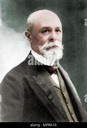 (Antoine) Henri Becquerel (1852-1908), French physicist. Artist: Unknown. - Stock Photo