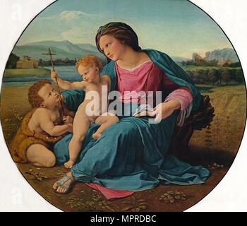 'The Alba Madonna', 1510. Artist: Raphael. - Stock Photo