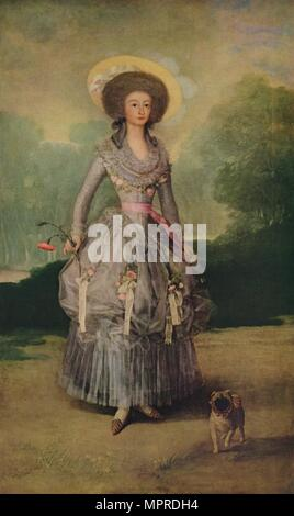 'The Marquesa de Pontejos', c1786. Artist: Francisco Goya. - Stock Photo