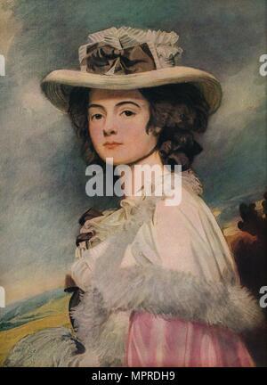 'Mrs. Davies Davenport', 1782-1784. Artist: George Romney. - Stock Photo