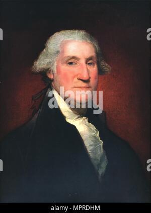 'George Washington', 1795. Artist: Gilbert Charles Stuart. - Stock Photo