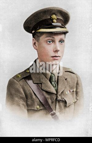 Edward, Prince of Wales, First World War, 1914-1918, (c1920).  Artist: Unknown. - Stock Photo