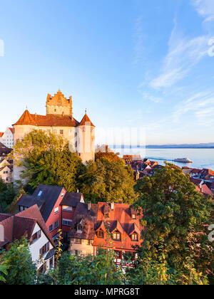 Germany, Baden-Wuerttemberg, Lake Constance, Meersburg, Meersburg Castle, lower city - Stock Photo