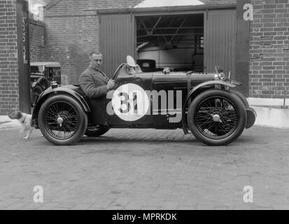 MG C type Midget of Cyril Paul at the RAC TT Race, Ards Circuit, Belfast, 1932. Artist: Bill Brunell. - Stock Photo