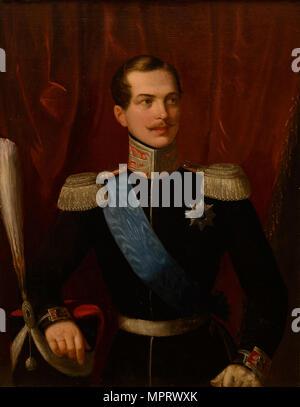 Portrait of the Crown prince Alexander Nikolayevich (1818-1881). - Stock Photo