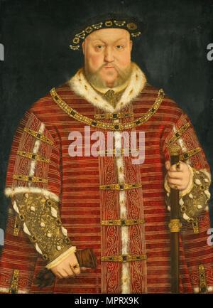 Portrait of King Henry VIII of England. - Stock Photo