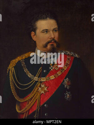 Portrait of Ludwig II of Bavaria (1845-1886), 1883. - Stock Photo