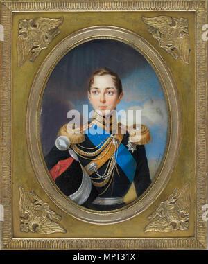 Portrait of the Crown prince Alexander Nikolayevich (1818-1881), 1834. - Stock Photo