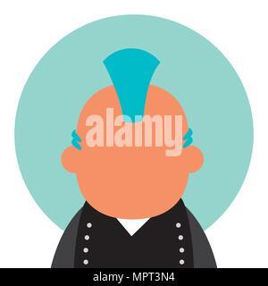 Punk man avatar - Stock Photo