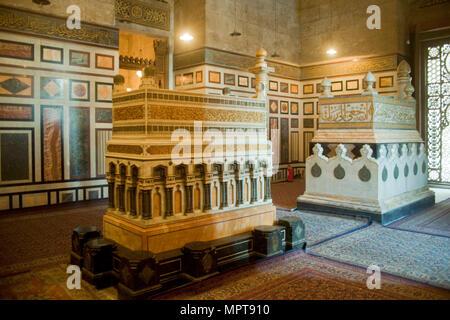 Aegypten, Kairo, Ar Rifai Moschee - Stock Photo
