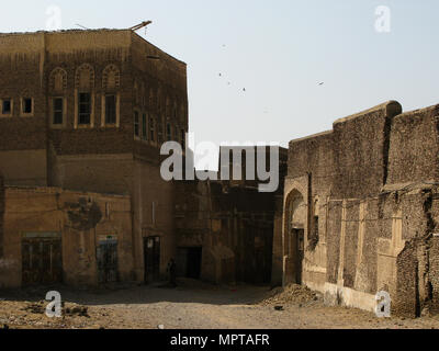 Exterior view to Zabid old fortress - 06 November 2009 Zabid Yemen - Stock Photo