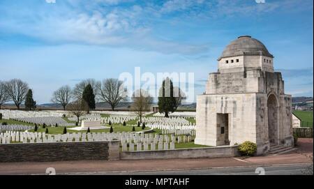 British military cemetery Cabaret Rouge, First World War, Souchez, Hauts-de-France, France - Stock Photo