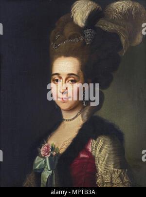 Portrait of Varvara Vasilyevna Golitsyna, née von Engelhardt (1757-1815). - Stock Photo