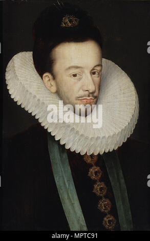 Portrait of Henry III of France, King of Poland and Grand Duke of Lithuania. - Stock Photo