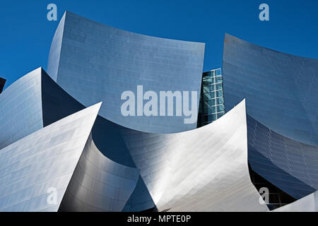 LOS ANGELES, USA - MARCH 5, 2018: The Walt Disney Philharmonic Concert Hall, designed by Frank Gehry is a modern architecture landmark in Los Angeles. - Stock Photo