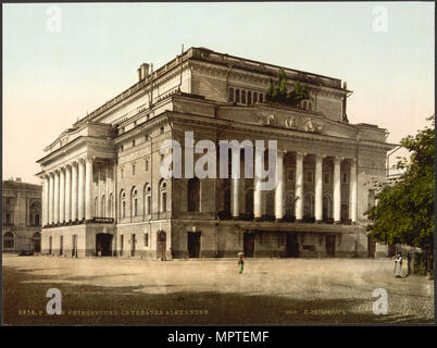 The Alexandrinsky Theatre in Saint Petersburg, 1890-1900. - Stock Photo