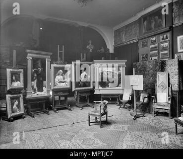 Lord Frederic Leighton's studio, Leighton House, 12 Holland Park Road, London, 1895. Artist: Bedford Lemere and Company. - Stock Photo