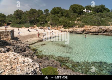 Cala Sa Nau, Felanitx, Mallorca, Balearen, Spanien  | Cala Sa Nau, Felanitx, Majorca, Balearic Islands, Spain, - Stock Photo