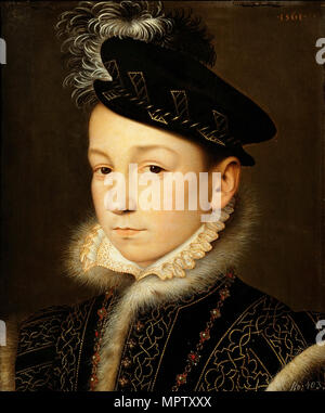 Portrait of King Charles IX of France (1550-1574). - Stock Photo