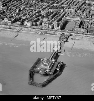 The West Pier, Brighton, Sussex, 1952. Artist: Aerofilms. - Stock Photo