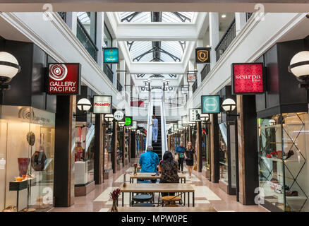 new zealand auckland new zealand interior of the Queens arcade an historic refurbished shopping arcade off queens street city centre auckland nz - Stock Photo