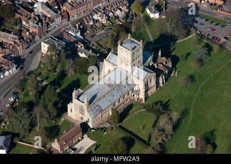 Tewkesbury Abbey, Gloucestershire. Artist: Damian Grady. - Stock Photo