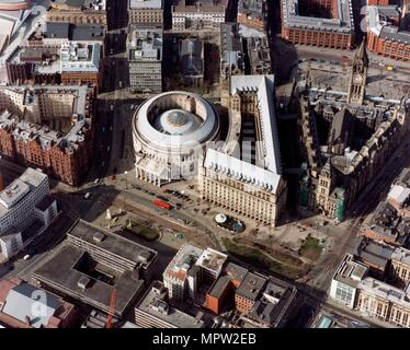 Town Hall and Central Library, Manchester, 2001. Artist: Unknown. - Stock Photo