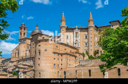 Urbino, city and World Heritage Site in the Marche region of Italy. - Stock Photo