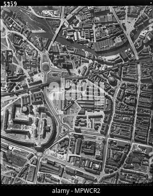 Leeds city centre, West Yorkshire, 28 March 1948. Artist: RAF photographer. - Stock Photo