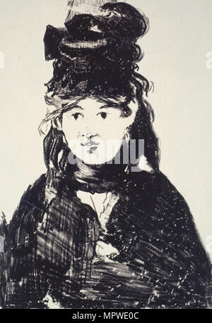 Berthe Morisot, 1872. - Stock Photo