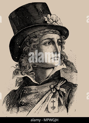 Henri du Vergier, comte de La Rochejaquelein (1772-1794), 1889. - Stock Photo